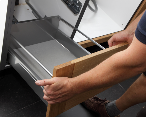 Replacement of faulty drawer soft-close mechanism