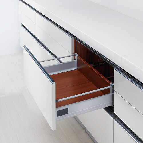 Doublewall Deep Drawer, with 1 Round Rail and 83mm Drawer Height