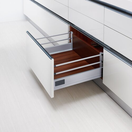 Doublewall Pots & Pans Drawer, with 2 Rails and 83mm Drawer Height