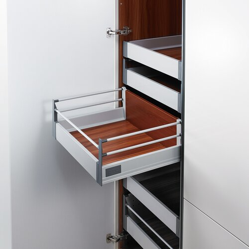 Doublewall Pots & Pans Drawer - Internal with 2 Round Rail and 83mm Drawer Height