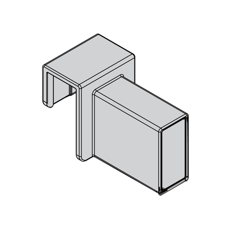 Snap-on Side Connector for Square Cross Rail