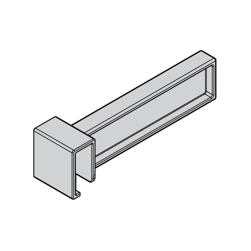 Snap-on Internal Divider for Square Cross Rail