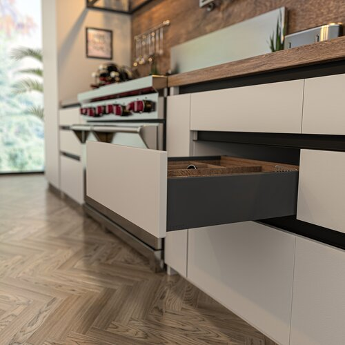 Legacy Prima Standard Metal Drawer Sides, 126mm Side Height