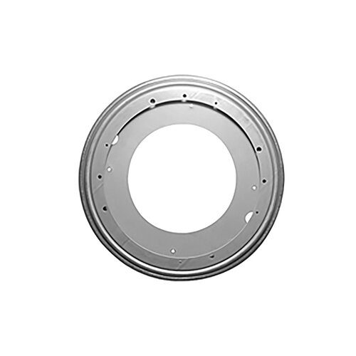 Swivel 12in Round Steel 1000lb - Greased for smooth and quiet rotation