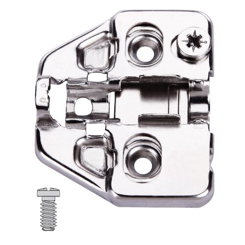 Clip-On Plate with Cam Height Adjustment, Euro-Screws
