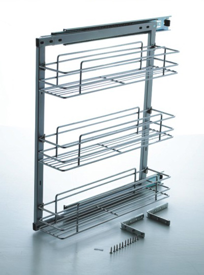 Side Mount Pullout Three Basket 300mm 041 304032 M