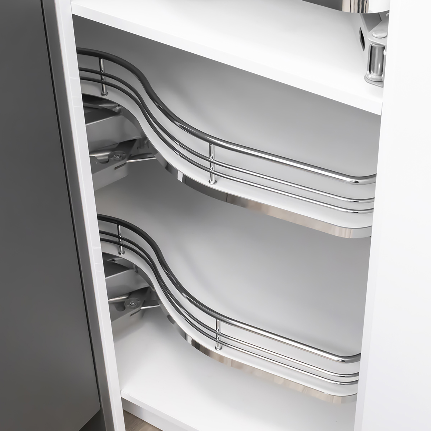 Kitchen Cabinet Accessories Pull Out: Fly Moon Corner Cabinet Pull Out