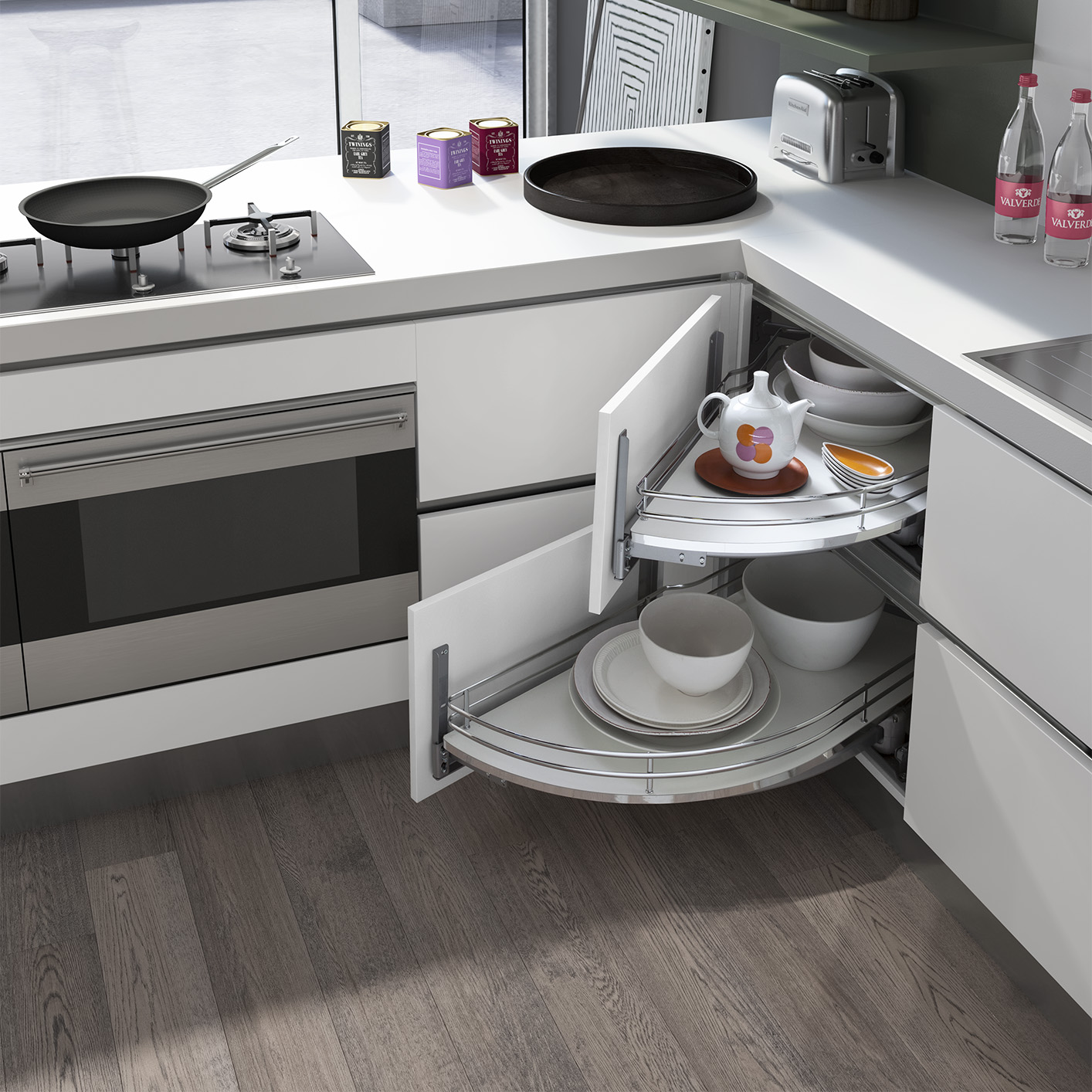 Kitchen Cabinet Accessories Pull Out: Rolling Corner Pull Out