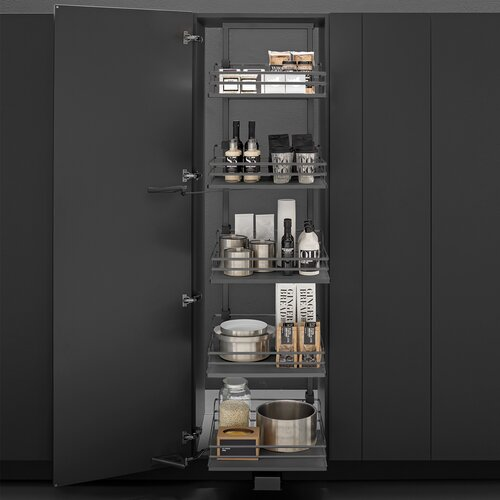 Maxi Pantry Pull Out Kits, Anthracite Dark Grey