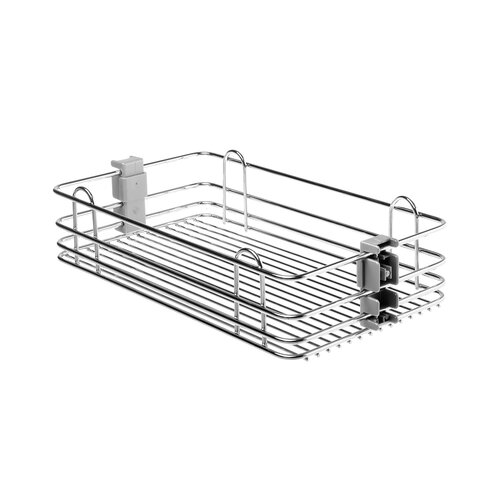 Chrome Wire Basket with Wire Bottom for Pull Out Pantry