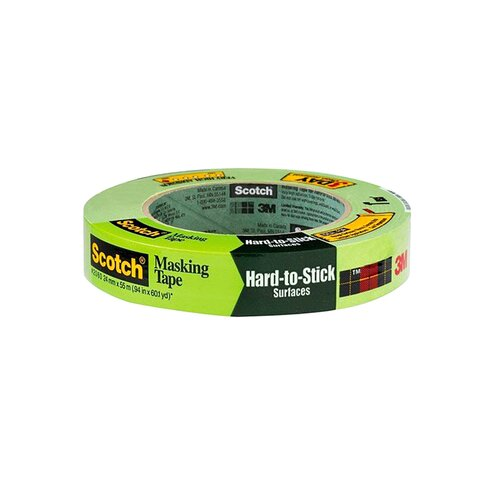 3M™ Scotch® Painters' Masking Tape for Hard-to-Stick Surfaces 2060, 24 mm x 55 m Roll